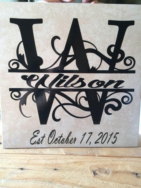 12x12 Monogram Tile Customized By Mistylous On Etsy