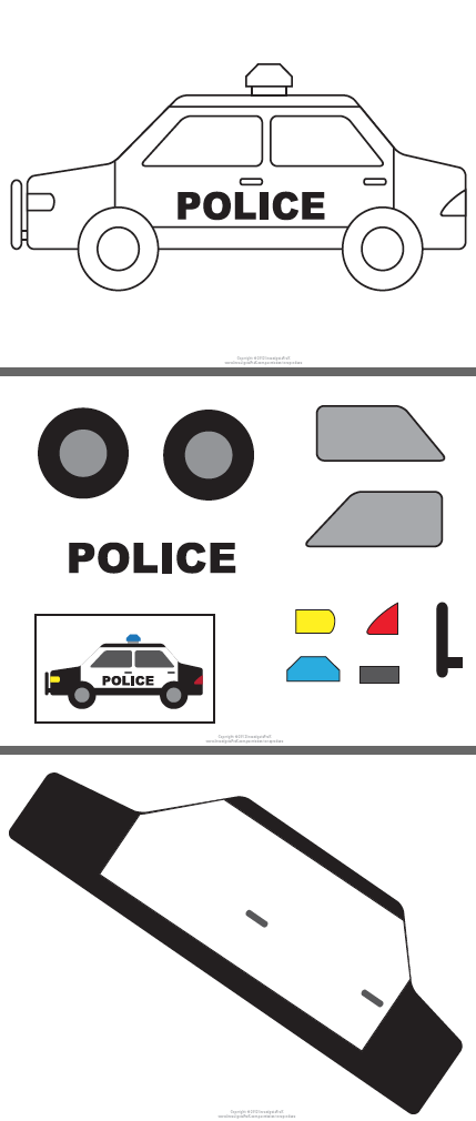 Police car template google search kids pinterest for Police badge template for preschool