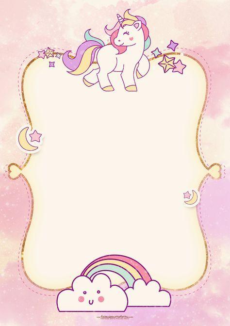 Convite Unicornio 2   Unicornio, Unicornios y Invitaciones