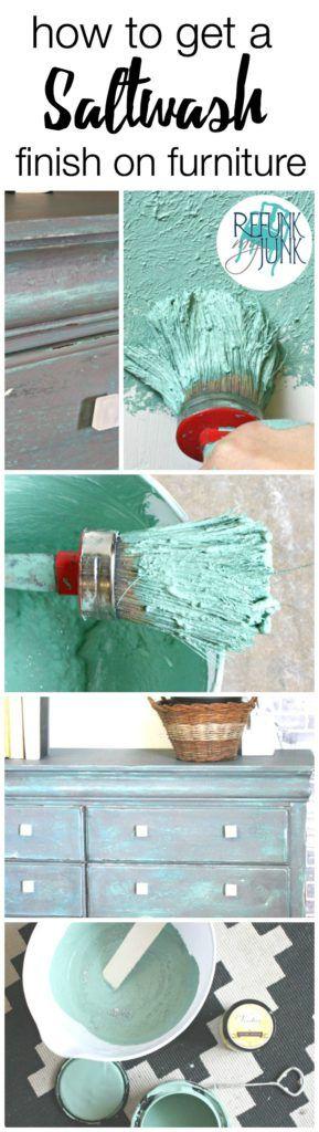 salt wash finish on furniture