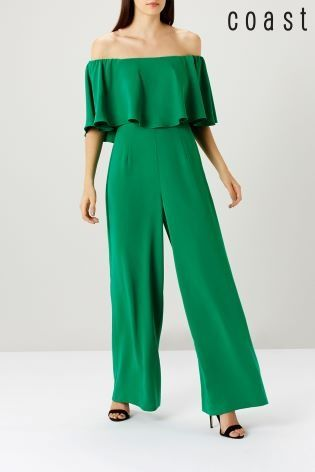 042d67e13f Nothing screams elegance than this green bardot jumpsuit from Coast. Ideal  for summer weddings or evening parties