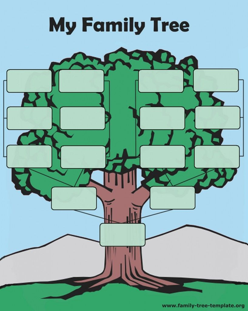 A Typical And Simple Family Tree Easy For Kids To Fill Out And