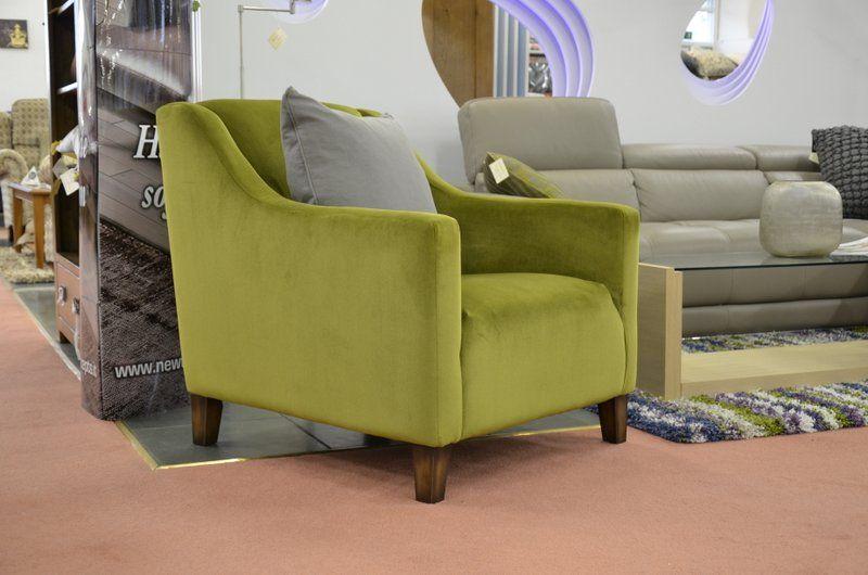 Living : BELMONT Accent Armchair Green Velvet