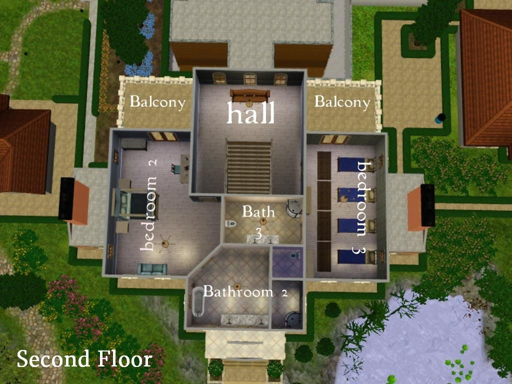Image result for sims 3 house blueprints 4 bedrooms