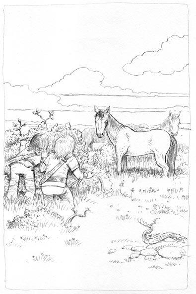 Mario Baert Illustration - Elfenblauw 2 - De Vallei van de Goden