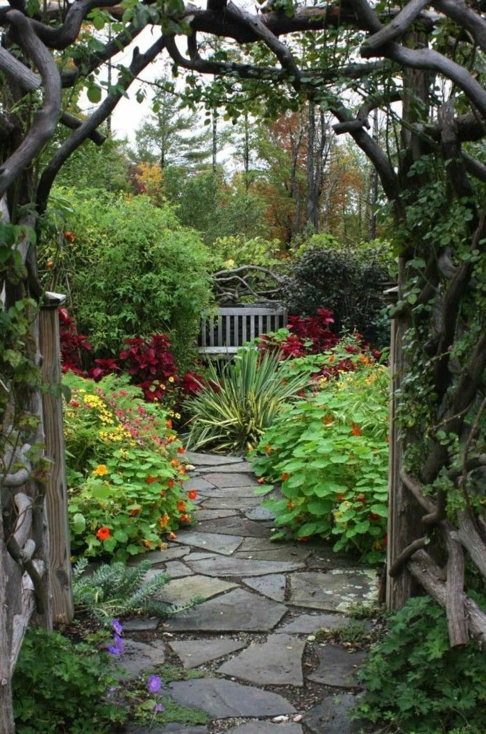 garden path - 50 garden paths that lead you through the outdoor area ... -