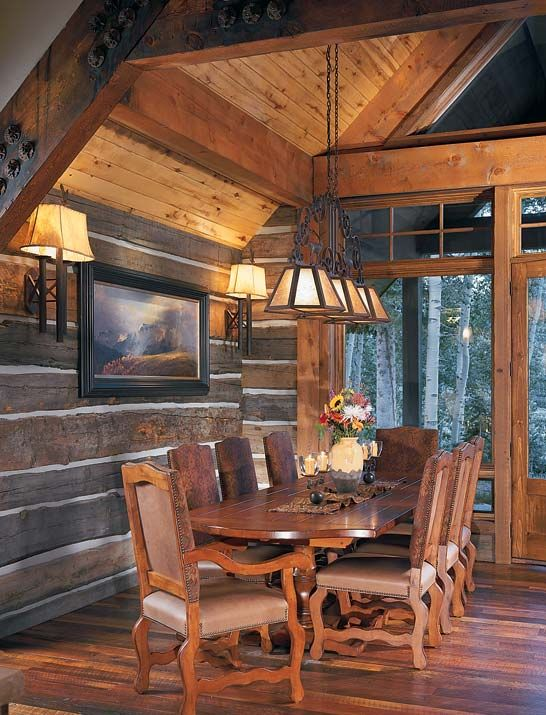 a place to call home planning a reclaimed log home cabin dining