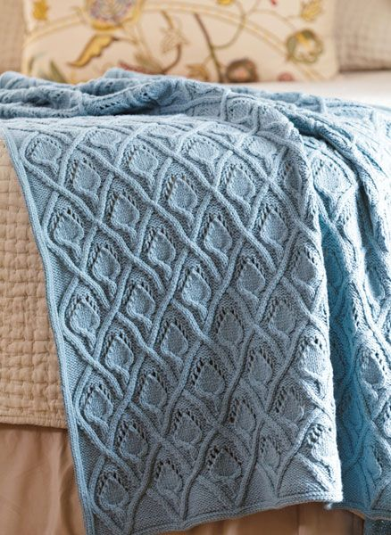 Throw Knitting Pattern - Calla Lily design
