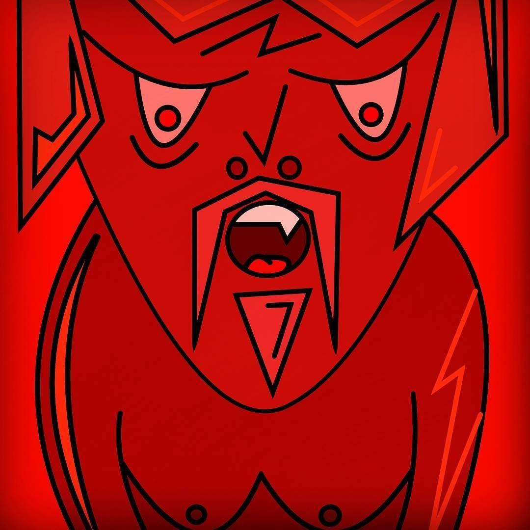 Roar! #art #warriors #boobs #drawing #cartoon #comic #vector #red #angry #tribal #portrait #digitalart #fire #creative
