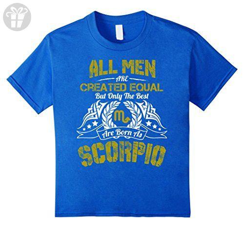 Kids Funny Shirt The Best Men Are Born As Scorpio Birthday Gift 4 Royal Blue - Birthday shirts (*Amazon Partner-Link)