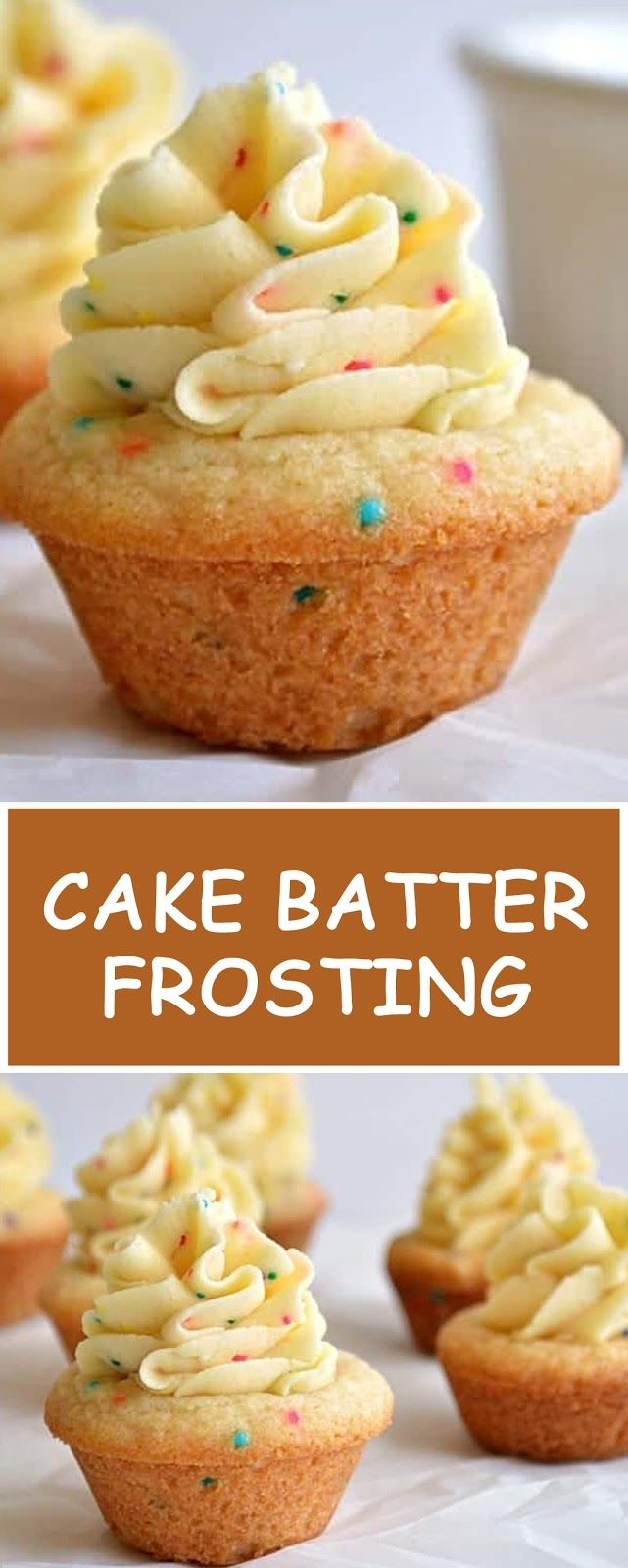 Cake Batter Frosting - All Recipe #cakebatter