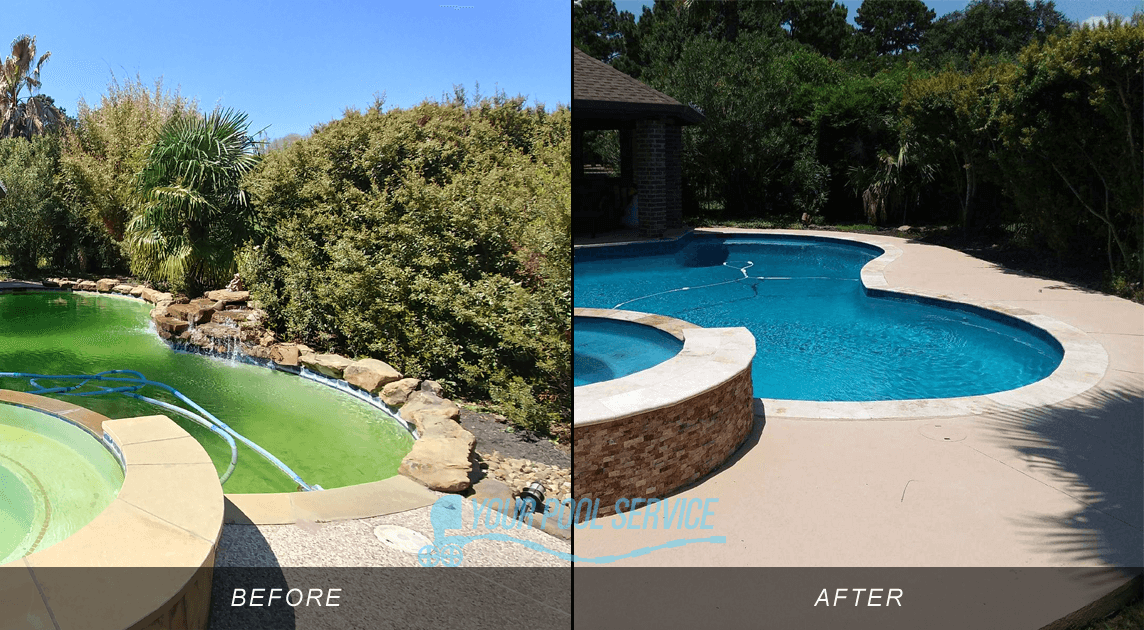 swimming pool remodeling before after photos 77356 | Pool ...
