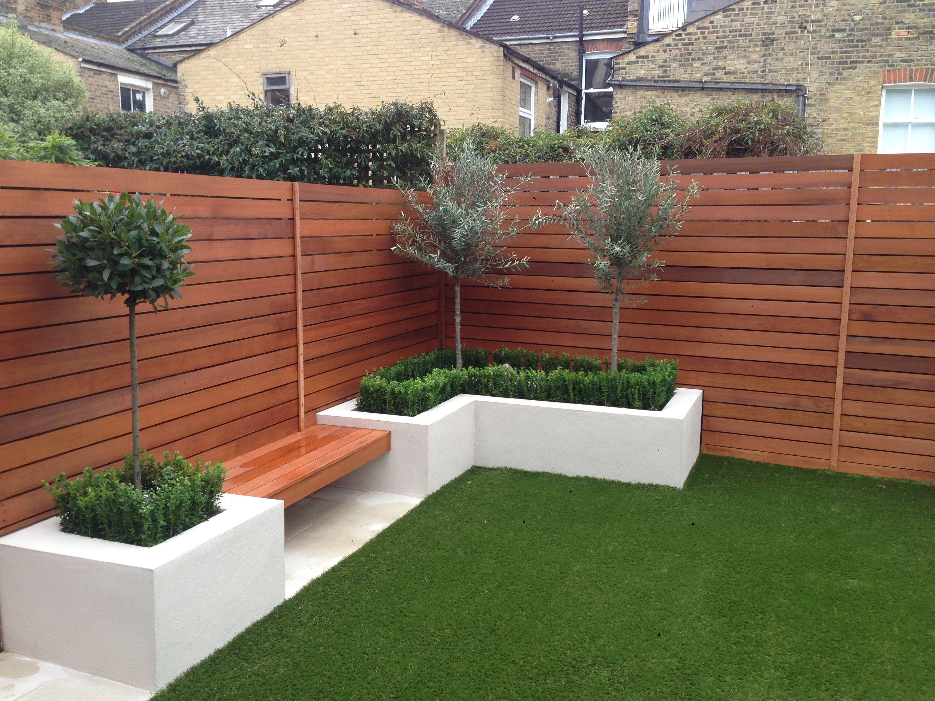Wandsworth Urban Garden Design: Garden Fencing, Small Garden