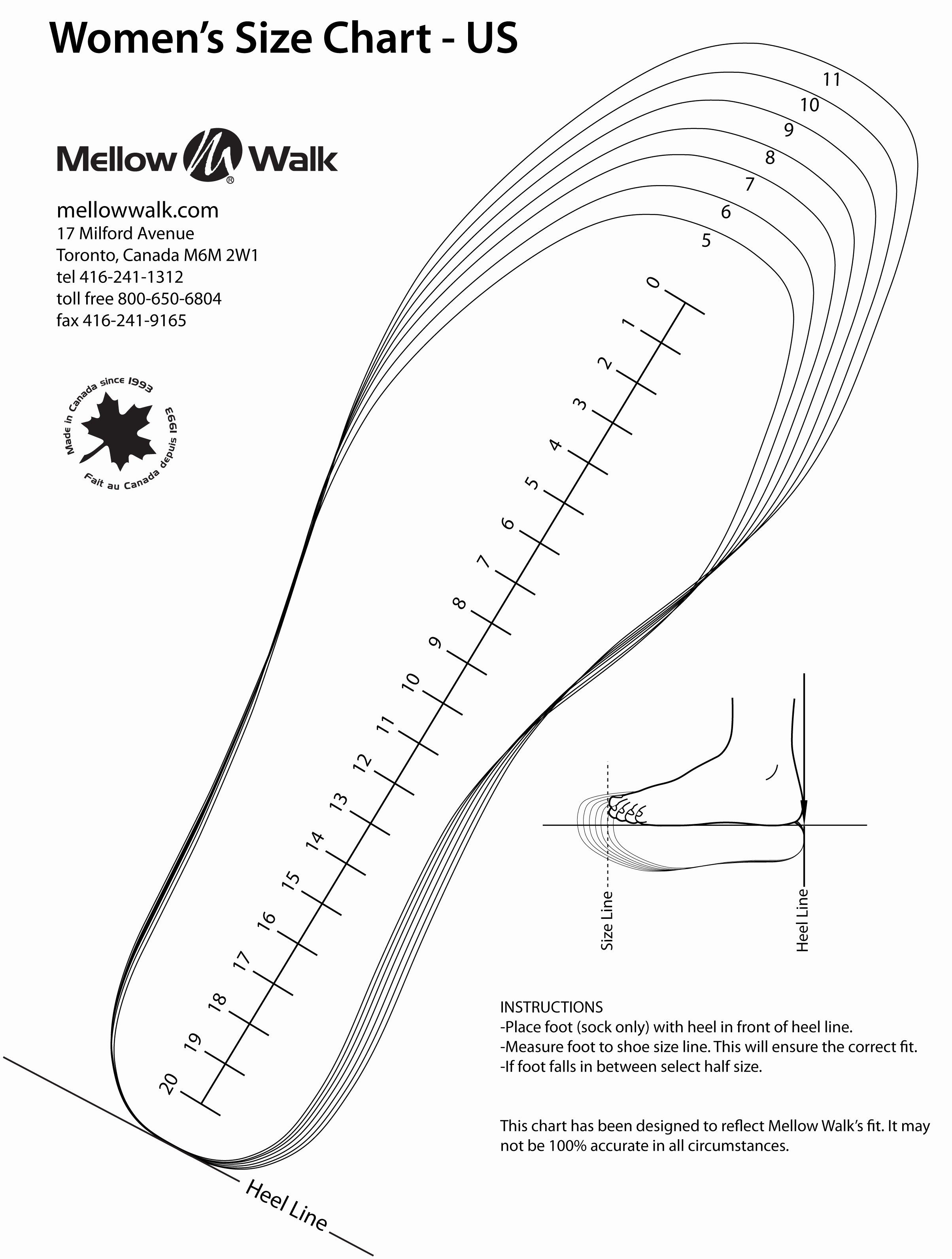 Foot Measurement Chart Printable Best Of Getting The Perfect Mellow Walk Fit Is As Easy As 1 2 3 Moccasin Pattern Baby Moccasin Pattern Shoe Chart