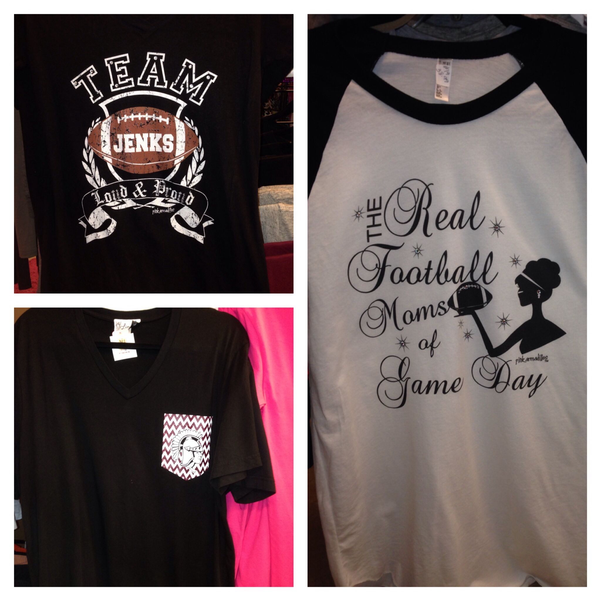 Black and white Jenks Game Day shirts. $38.99