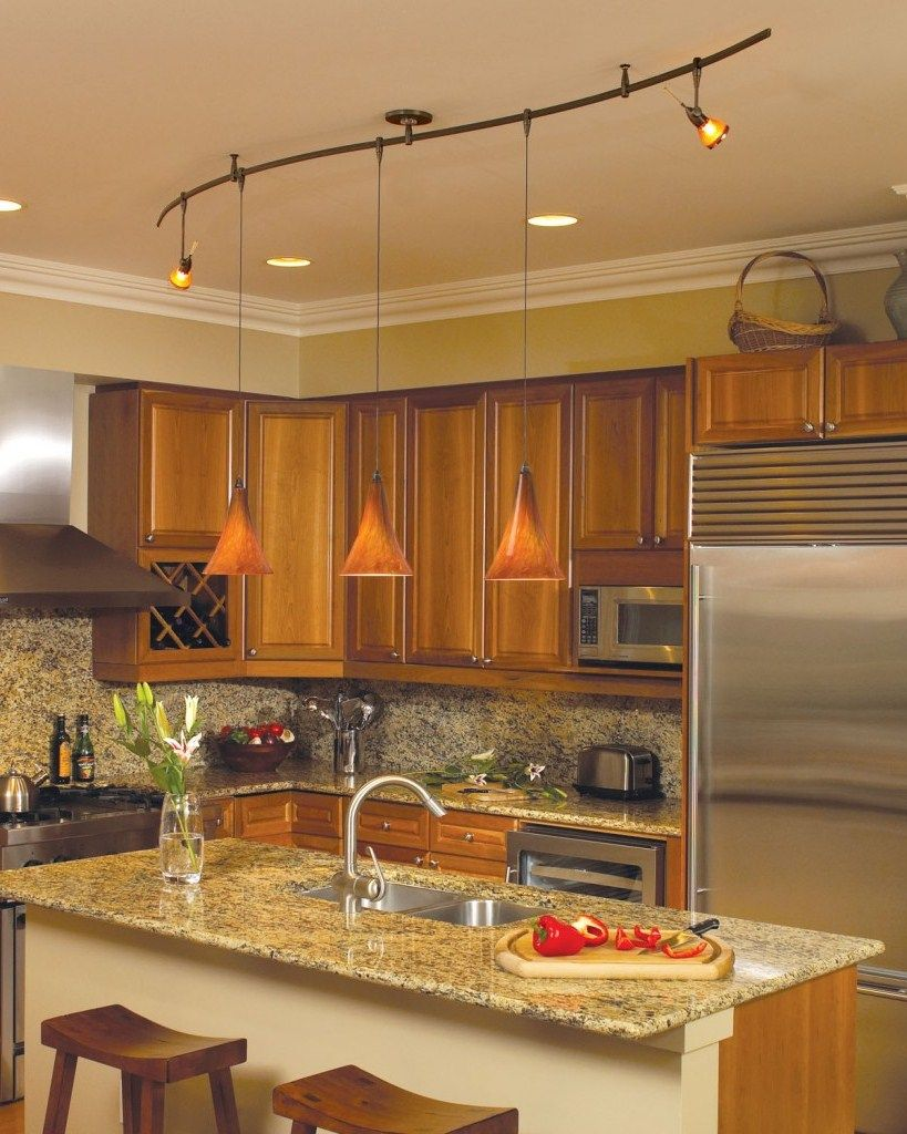 lighting in a kitchen. Kitchen Track Lighting Ideas Modern Design In A