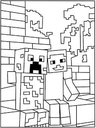 Znalezione Obrazy Dla Zapytania Kolorowanka Minecraft Kolorowanki