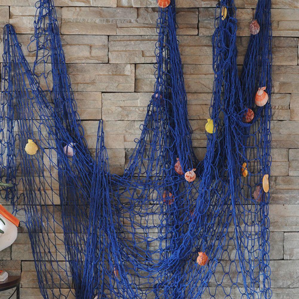 Barato 2 M x 1.5 M estilo Moderno Casa Decoração Náutica Pesca Decorativa Net…