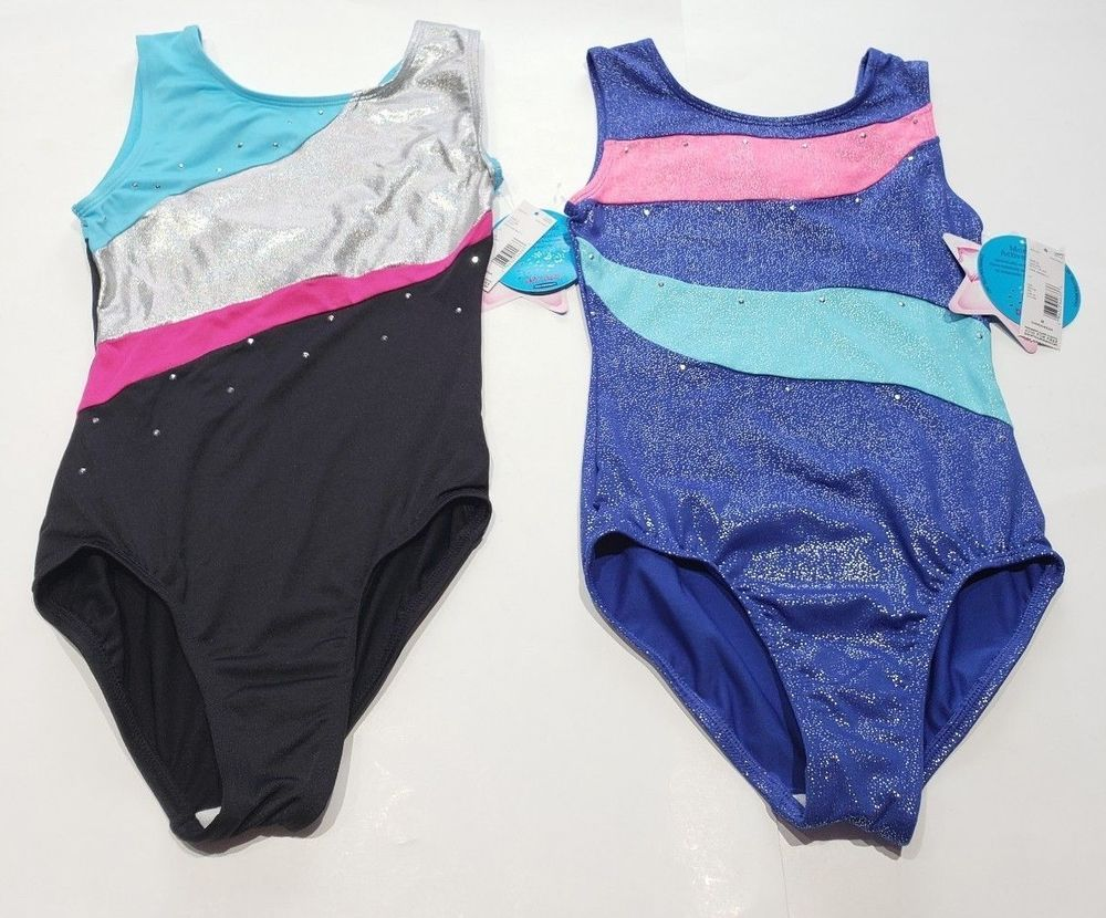 4efbd85b1ece NWT Moret Active Girl Dance Gymnastic Leotard Girls Medium 8-10 Lot ...