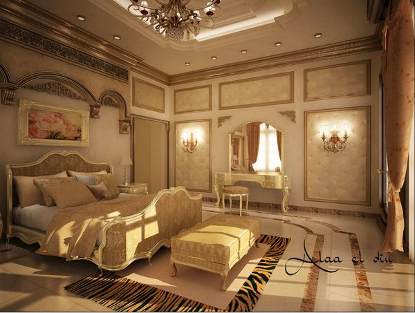 Classic master bedroom 2o1o by farouk alaa el din via for Victorian style master bedroom