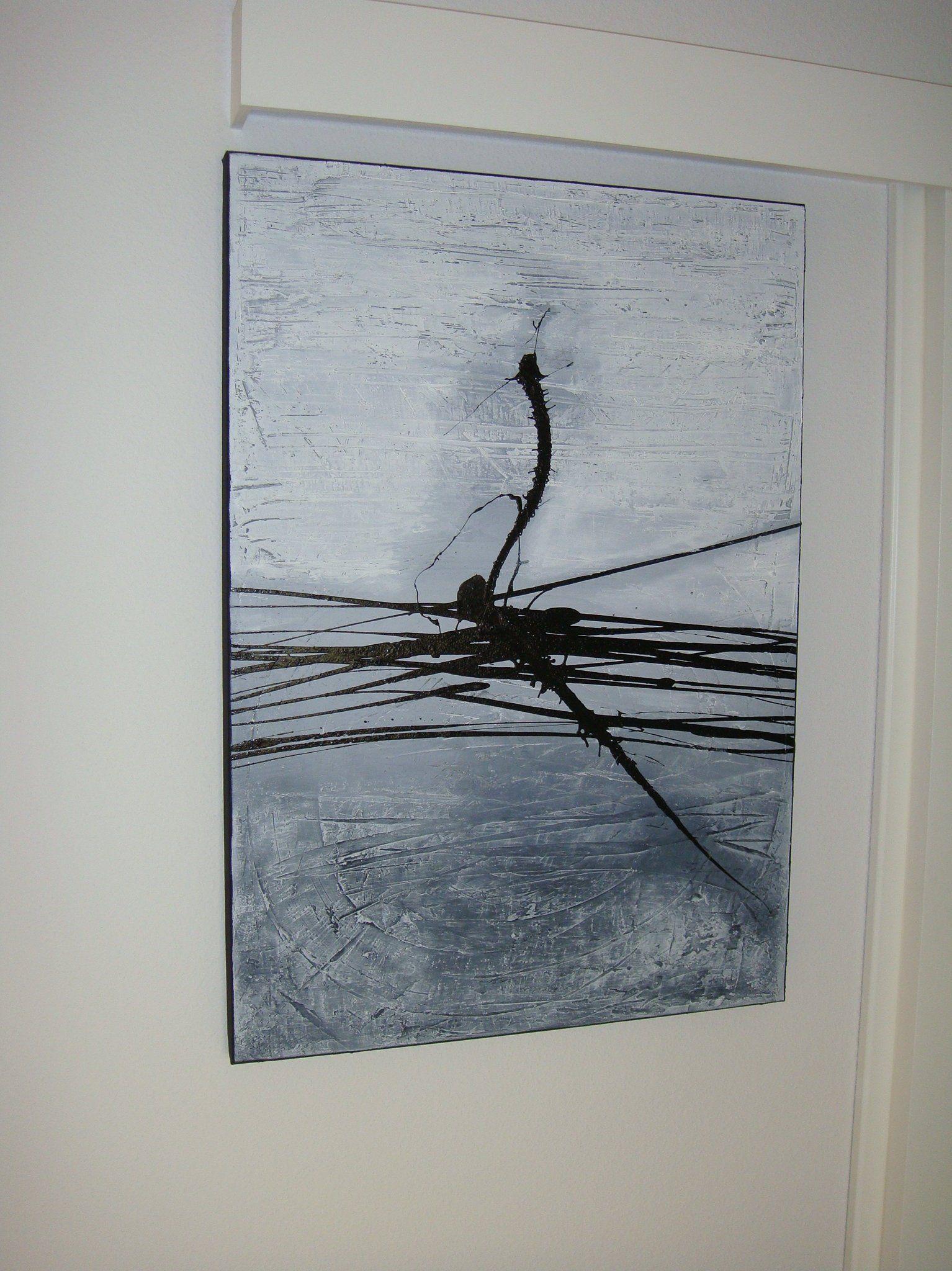 abstract image inspiration 70x100 picture in grey tones modern plain art painting black and white bilder abstrakt grau weiß abstrakte kunst leinwand kaufen
