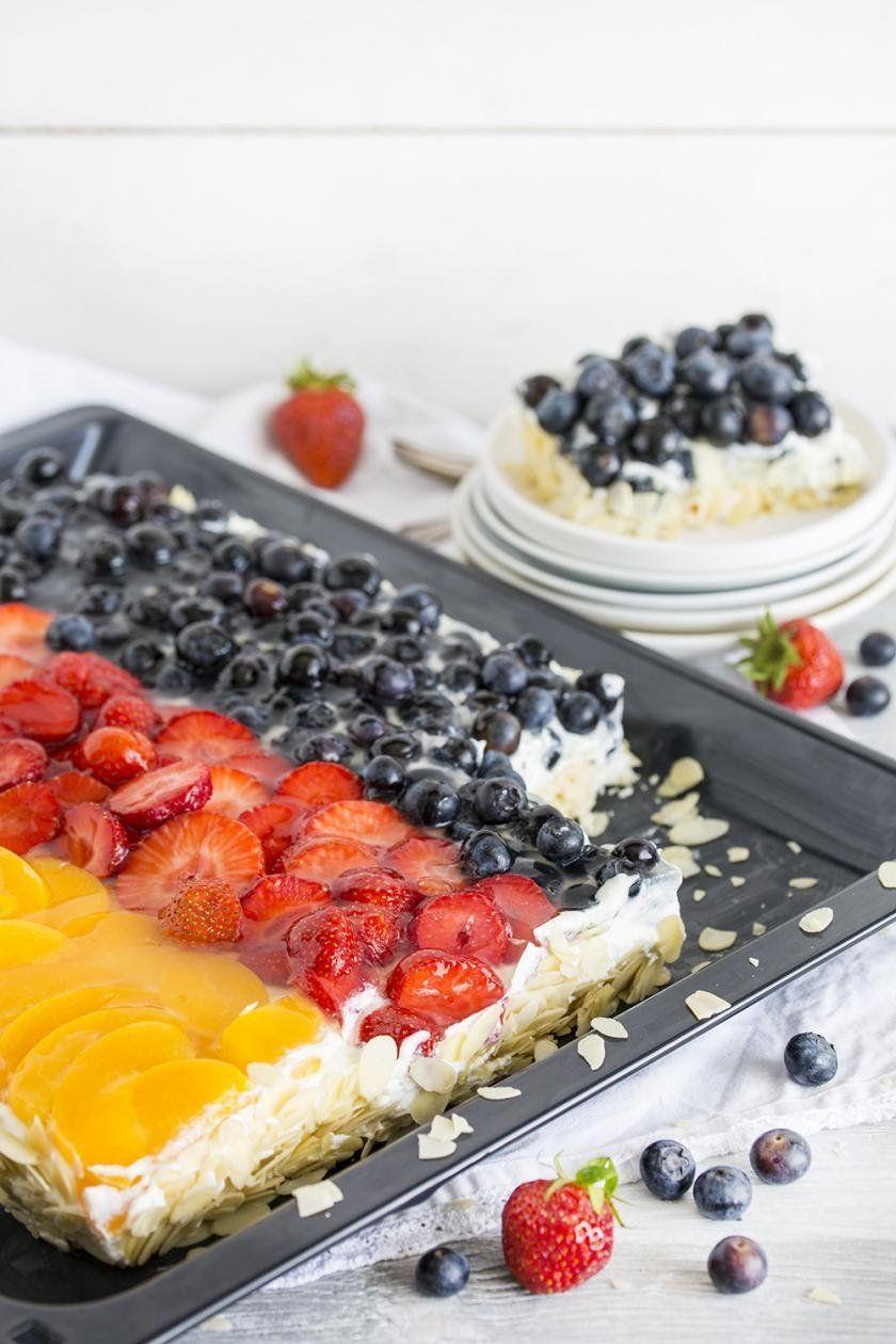Obstkuchen im Deutschland-Look | Rezept | Obstkuchen ...