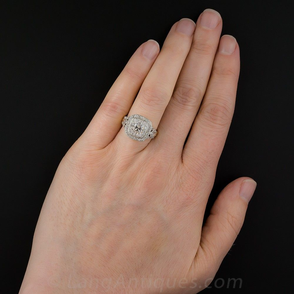 ce23a33dfb5e1 Edwardian Style 1.10 Carat Cushion-Cut Diamond Ring - 7 | Engagement ...