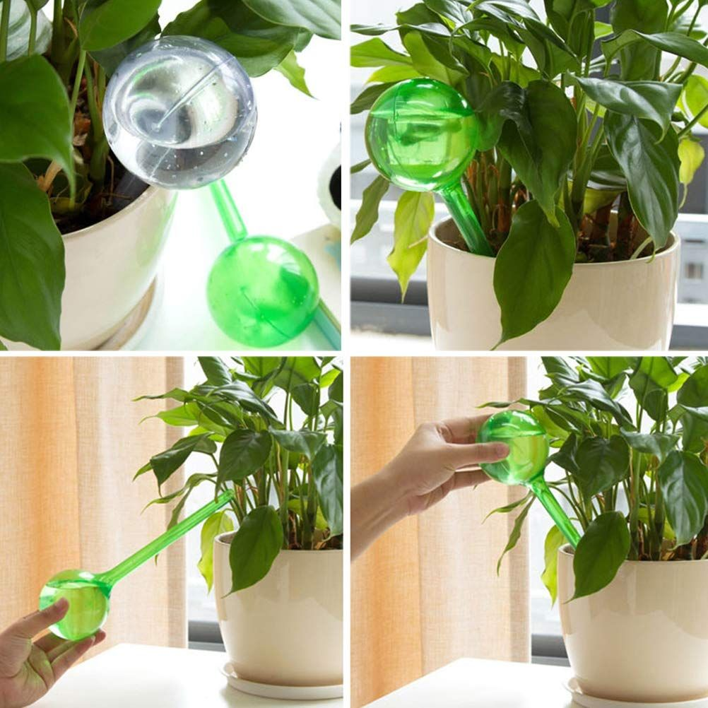 Self Watering With These Watering Globes Self Watering System Eliminates The Need To Worry About Leaving Your Plan Plant Watering Bulbs Plants Plastic Plants