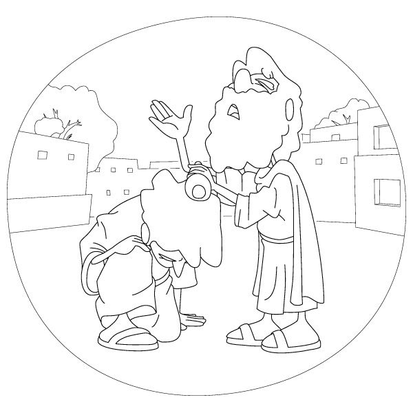 Printable Colouring Pages Samuel Anoints Saul