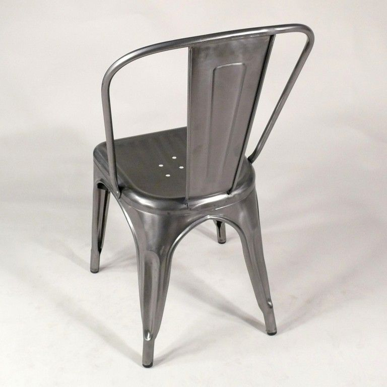Bistrostuhl French Classic Gun Metal Gun Matal Chair