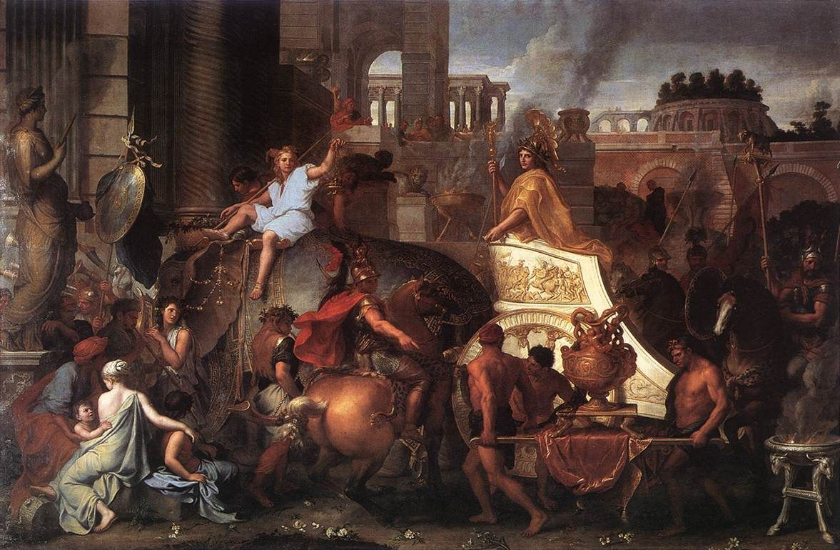 Charles Le Brun. Entrée d'Alexandre dans Babylone (1664)