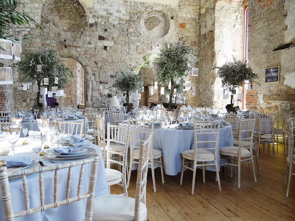 Inside Lulworth Castle For The Reception Bournemouth Dorset Uk