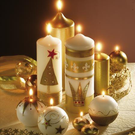 Pin Von Martha Pizo Auf Navidad Kerzen Verzieren