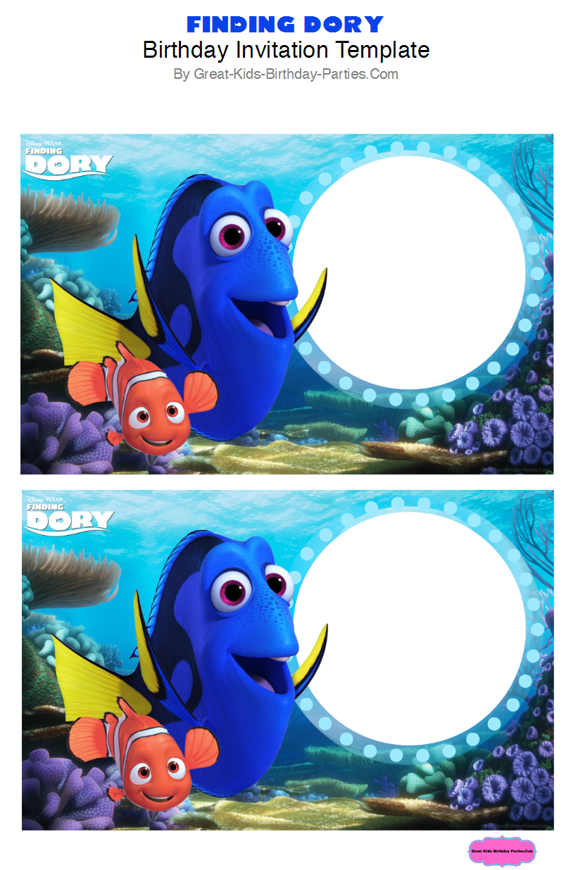 http://www.great-kids-birthday-parties.com/finding-dory-party.html ...