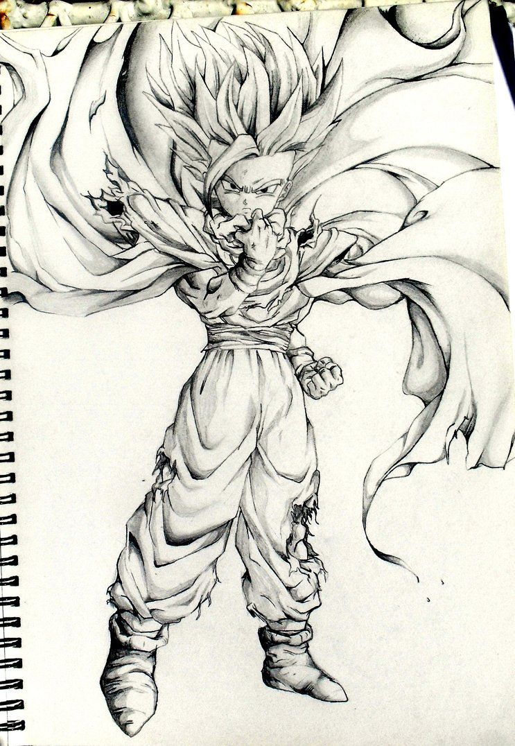 My best sketch from primary school use too do a lot of dbz sketches as a kid