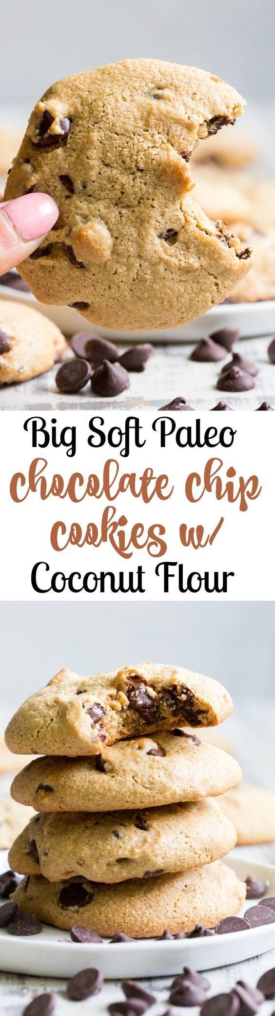 Big Soft Paleo Chocolate Chip Cookies with Tahini (Nut