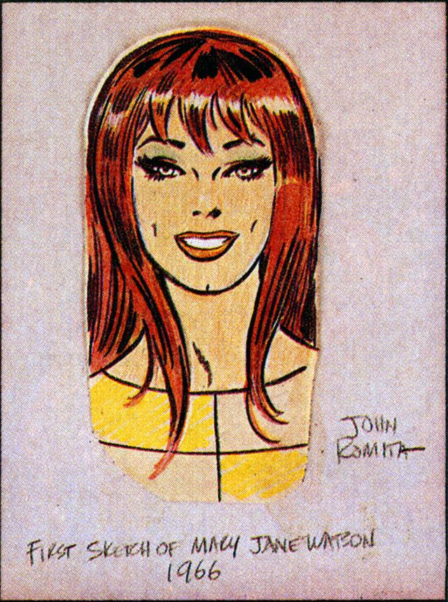 First sketch of Mary Jane Watson for The Amazing Spider-Man by John Romita (Sr.)