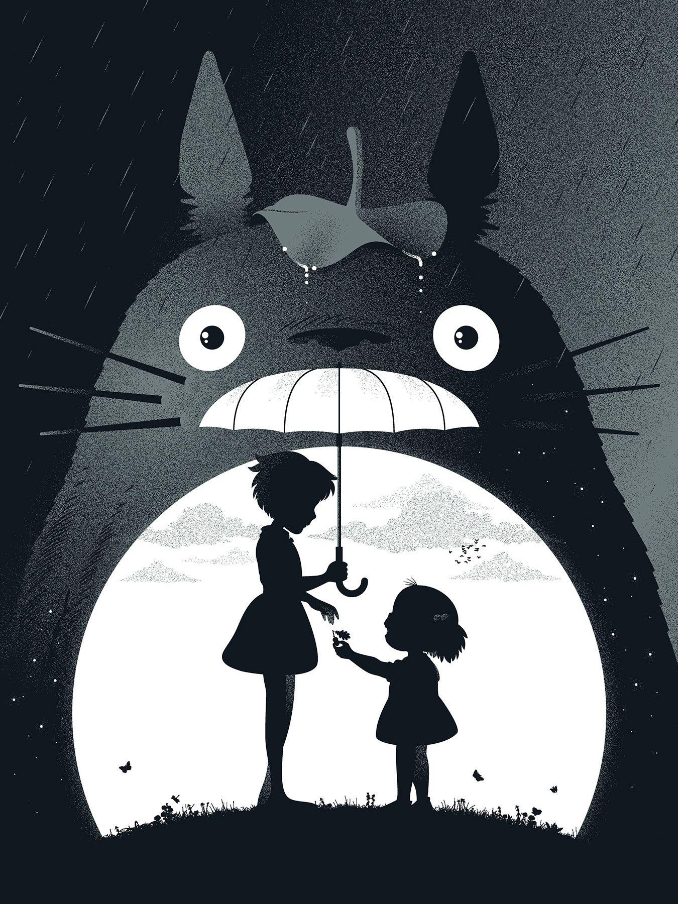 I love this Totoro drawing. Studio ghibli filme, Totoro