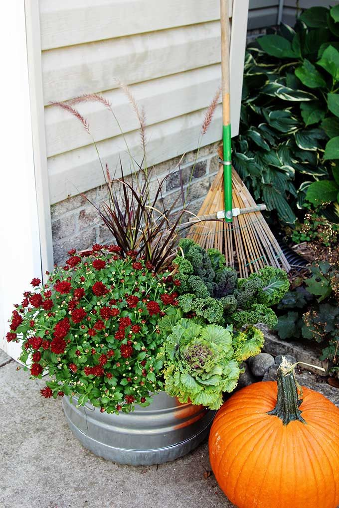 How To Make Fall Outdoor Planters