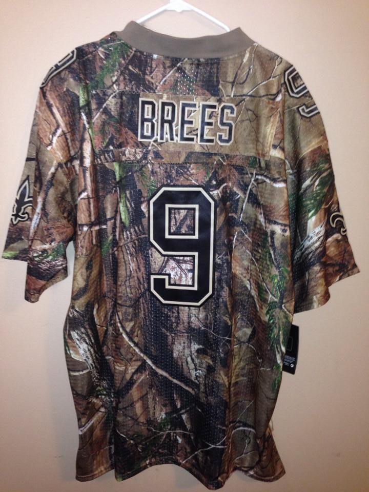 ... Elite QB Practice Jersey DREW BREES SAINTS 9 Camo Jersey XL(48) ... 861ed2491