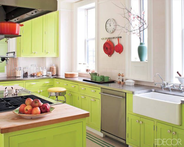 Fresh Greens Green Kitchen Cabinets Green Kitchen Kitchen Colors