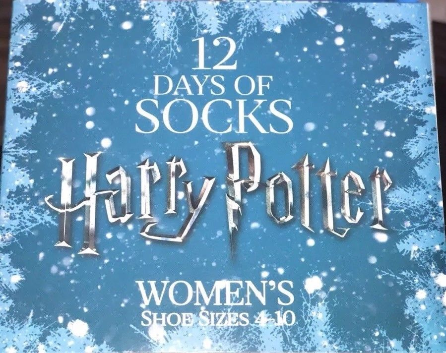 12 days of socks harry potter womens sizes 4 10 christmas advent sold out vhtf