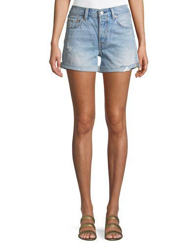 607087754 Levis Premium 501 North Beach Blues Mid-Rise Denim Shorts | Products ...