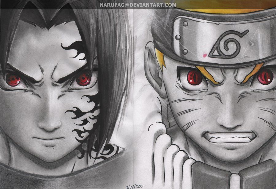 Naruto Vs Sasuke By Narufag Deviantart Com On Deviantart