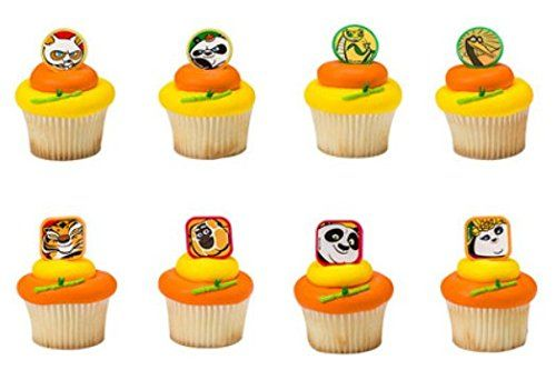 Kung Fu Panda 3 Cupcake Rings Party of 24 Cupcake Decoration Kit