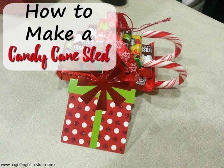 Candy Cane Sleds- A Cute Christmas Favor!