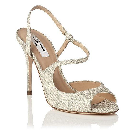 Palma Glitter Leather Knit Strappy Sandal | View All | Shoes | L.K.Bennett, London