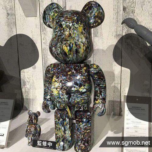 Medicom 100/% Bearbrick ~ Jackson Pollock Studio Be@rbrick
