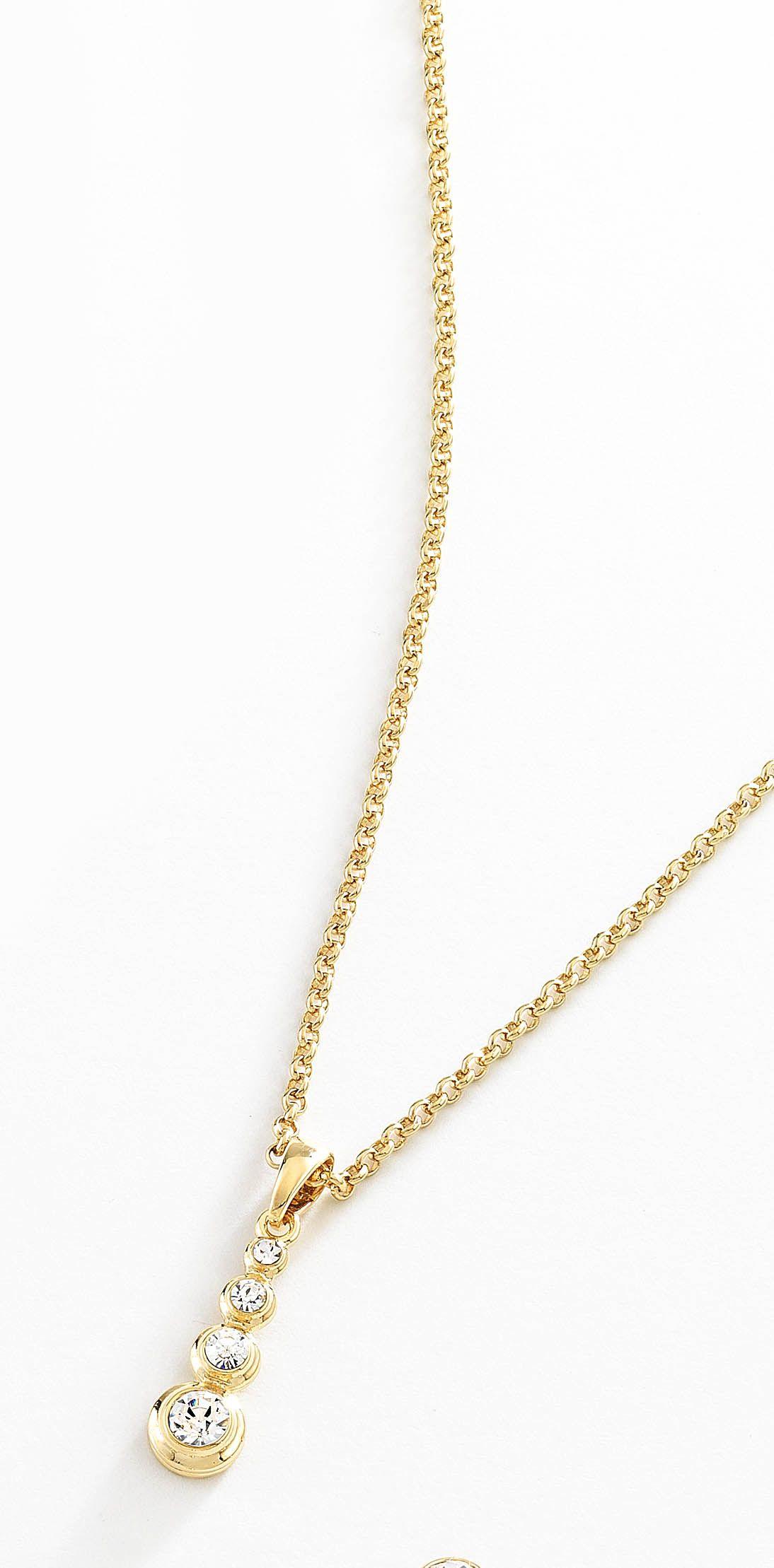 60a44a2f112a Precioso collar con cadena delgada y dije largo con 4 piedras de cristal