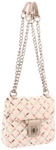 Olivia Harris 21271 Shoulder Bag,Off White w/Rainbow,One Size for $246.49